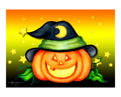 Melanie-vowles-halloween-jack-o-lantern-hat-series--witch-hat